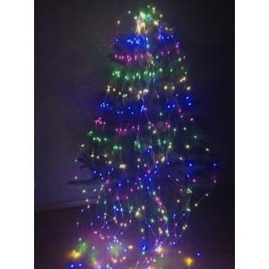 Гирлянда Конский хвост, 400 mini LED, цветная