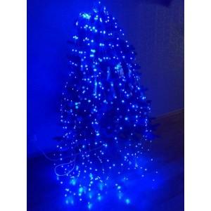 Гирлянда Конский хвост, 400 mini LED, синяя