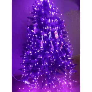 Гирлянда Конский хвост, 400 mini LED, фиолетовая