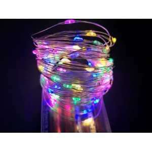 Гирлянда Капля на батарейках, 30 LED, 3 метра, цветная
