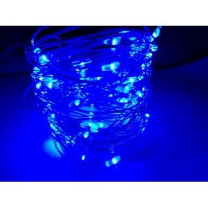 Гирлянда Капля на батарейках, 100 LED, 10 метра, синяя