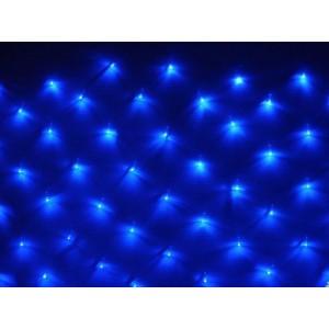 Гирлянда Сетка Ягодка синяя 1.5х1.5 м, 120 LED 8 мм, черный провод