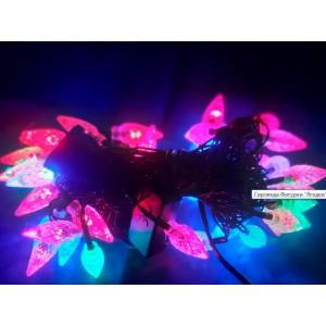 Гирлянда Ягодки 5 метров, 40 LED, черный провод