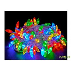 Гирлянда Ягодки 5 метров, 40 LED, прозрачный провод