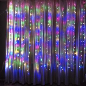 Гирлянда Водопад цветная 3х3 м, 480 LED, 5 мм