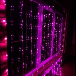 Гирлянда Штора фиолетовая 2х2 м, 240 LED 5 мм