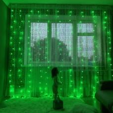 Гирлянда Водопад 3х2 м, зеленая 320 LED