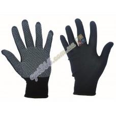 Перчатки рабочие стрейч-нейлон с ПВХ микроточкой, черные