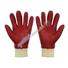 Перчатки маслостойкие, красные БМС, плотные