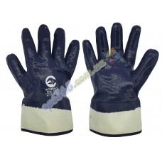 Перчатки рабочие, защитные с манжетой, нитрил покрытие, р. 10