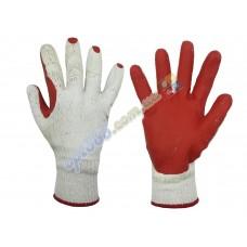 Перчатки садовые, красные